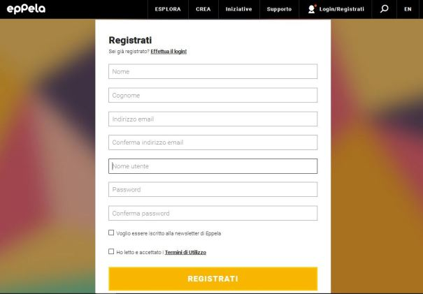 registrati-eppela-screenshot